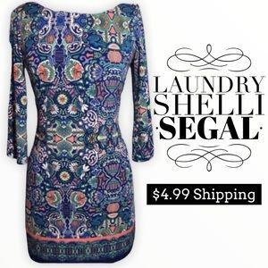 Laundry Shelli Segal retro print jersey dress